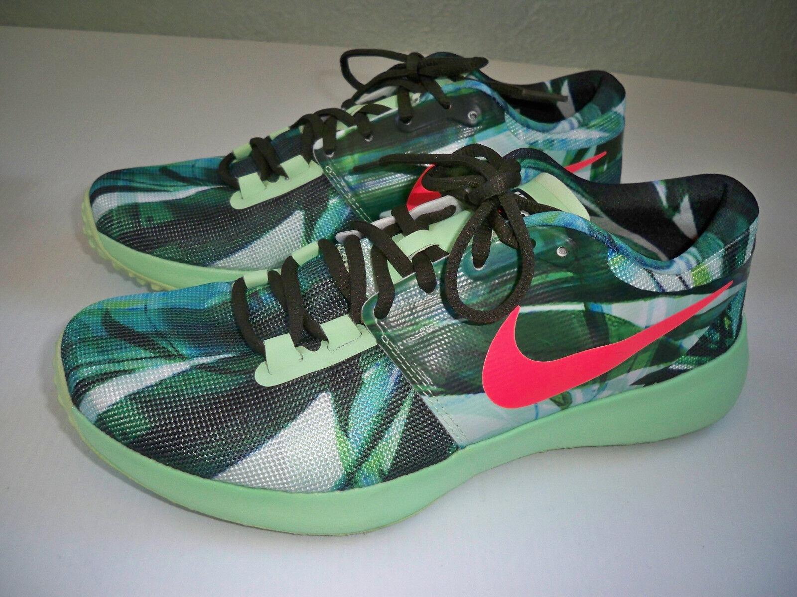 Nike Zoom Speed TR2 AMP White  Hot Lava  Vapor Grn Training Mens SZ 9 EXCELLENT