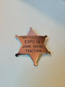 JOHN DEERE Two Cylinder EXPO IV (4) Sheriff Police Button Pin Tractors Pinback