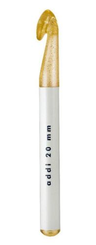 Addi WOLLHÄKELNADEL Häkelnadel Goldglitter champagner 445-7 alle Größen