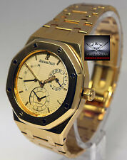 Audemars Piguet Royal Oak Dual Time Power Reserve 18k Gold Mens Watch 25730BA