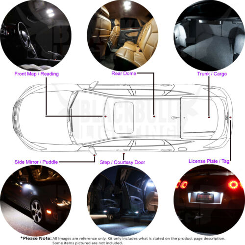Blue LED Interior Lights Replacement Kit for 2015-2018 Dodge Challenger 7 bulbs