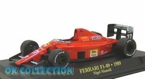 1:43 F1 - FERRARI F1-89 (1989) - Nigel Mansell + COPERCHIO BOX RIGIDO (21)