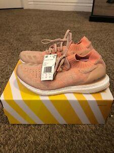 adidas Ultraboost Uncaged Ash Pearl Coral Orange Tan BB6488 Size 9.5 Shoe