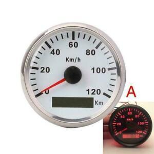 Weiss-GPS-Tachometer-Tacho-Geschwindigkeitsmesser-Sumlog-Digital-Fuer-Boot-Auto-DE