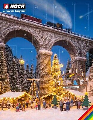 """Noch 65590 Spur H0 Bastel-Adventskalender /""""Weihnachtsmarkt/"""" #NEU in OVP##"""