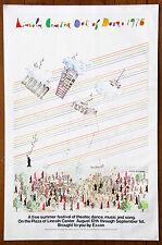 "Lincoln Center ""Out of Doors"" Vintage Original Festival Poster by Alan.E. Cober"