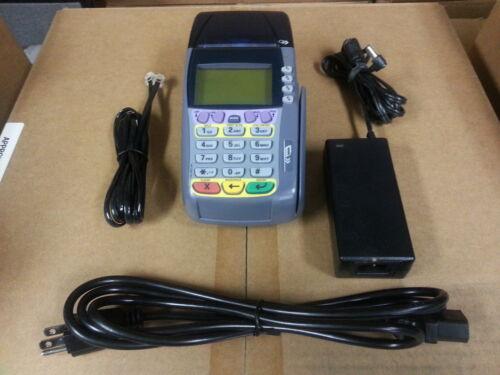 VERIFONE OMNI 3740 CREDIT CARD TERMINAL Complete Set w// Warranty 3750 3730