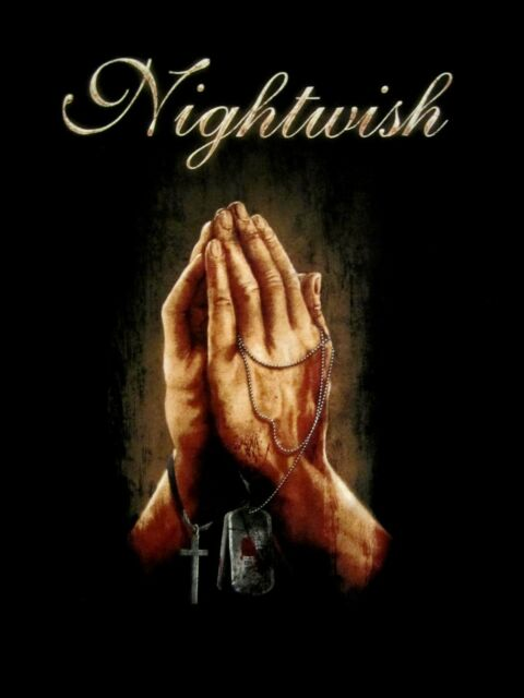 NIGHTWISH cd lgo Imaginaerum PRAYER Official SHIRT XL New song of myself