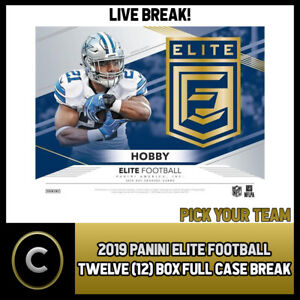 2019-DONRUSS-ELITE-FOOTBALL-12-BOX-FULL-CASE-BREAK-F198-PICK-YOUR-TEAM