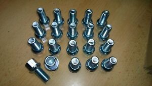 20 Radschrauben Mercedes Stahlfelen A B C E Klasse  M14 x 1.5 x 26,5 Kugelbund
