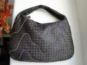 5752-2 Medium Bottega Veneta Full Woven Leather Brown Veneta Bag   eBay 02f45f4215