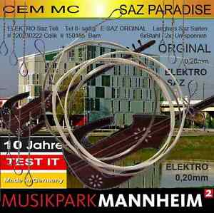 100% Vrai Musikpark électrique Baglama String Professionnellement Tél 1 Pack Cem Mc Spg Teli 8 Cordes-afficher Le Titre D'origine