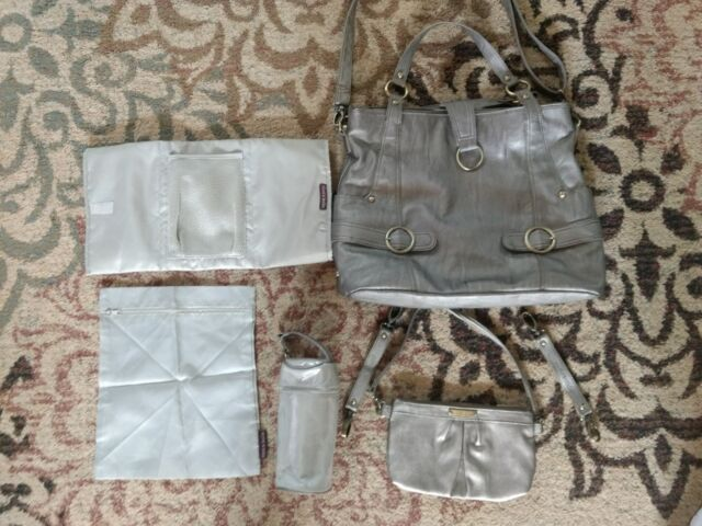 Timi And Leslie Hannah Diaper Bag 7 Pc Set Pewter