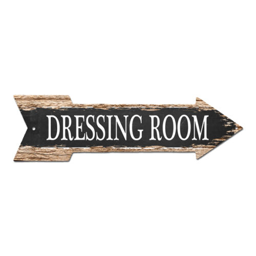 AP-0009 DRESSING ROOM Arrow Street Tin Chic Sign Name Sign man cave Decor Gift