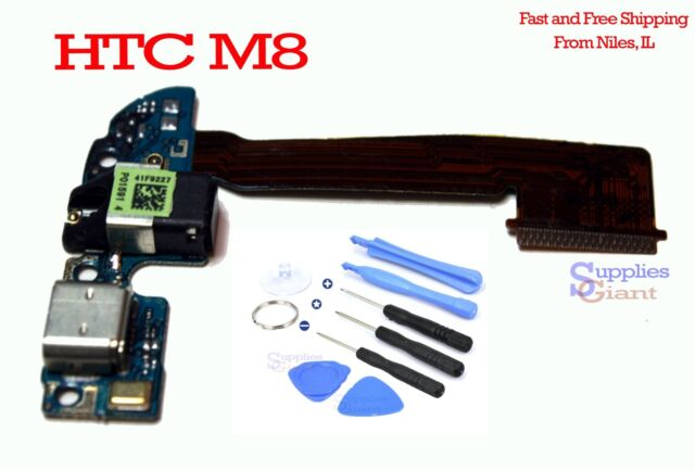 HTC One M8 831C Sprint 32G Audio Jack Charging Micro USB Port Flex Cable + Tools