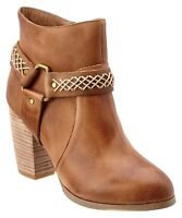Antelope Shoes 732 Harness Booties Ankle Boot $249 39 Taupe Leather Boho