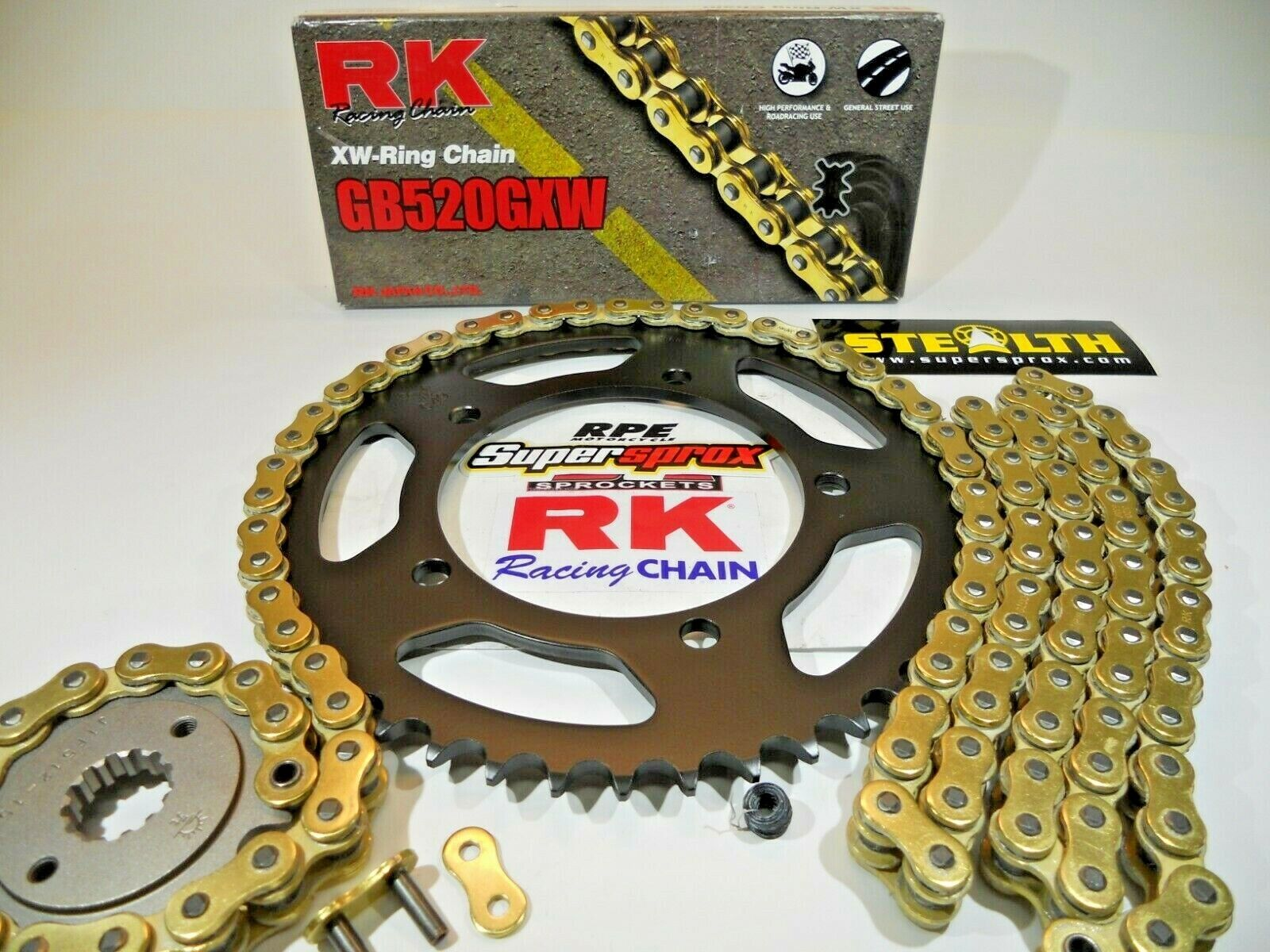 RK Racing Chain 530GXW-106 106-Links XW-Ring Chain with Connecting Link