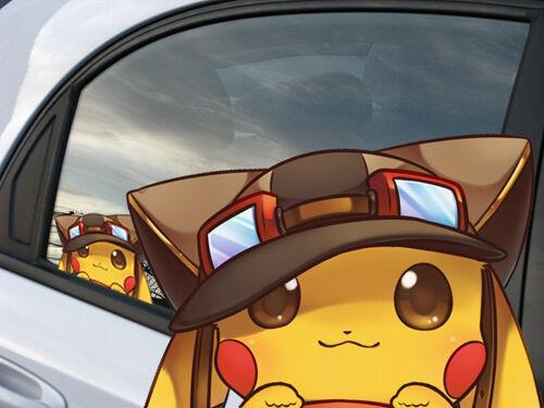 Pikachu Pokemon Anime Car Window Cling Decal Sticker 011