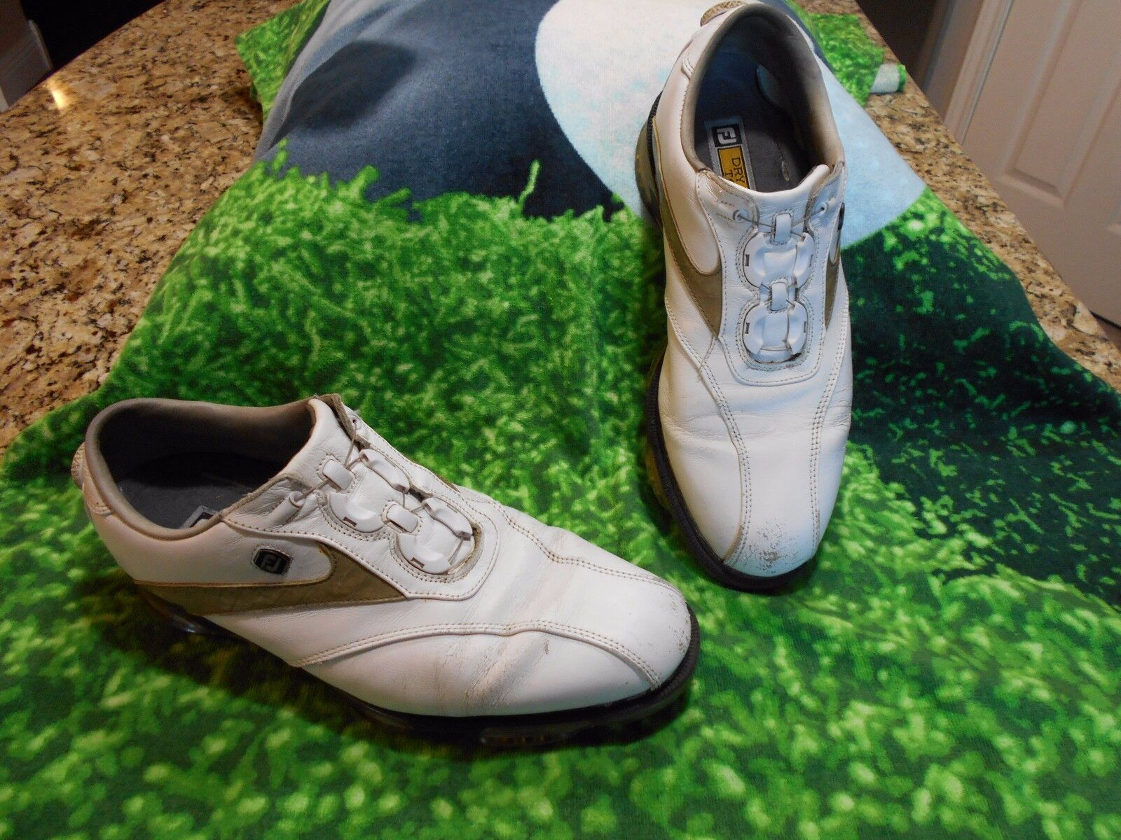 footjoy dryjoys tour scarpe da golf uomini sz 11 m lacing optiflex piattaforma boa lacing m 0644e5