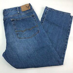 American-Eagle-Denim-Jeans-Mens-40X30-Blue-Straight-Leg-Medium-Wash-5-Pockets