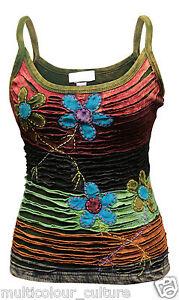 Women-Cami-Floral-Hippie-Casual-Tank-Tops-Festival-Ladies-Vest-Blouse-T-shirt