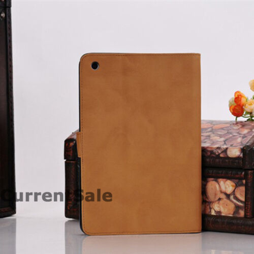 Vintage Leather Book Case Magnetic Retro Cover for Apple iPad Mini Air 1 2 3 4