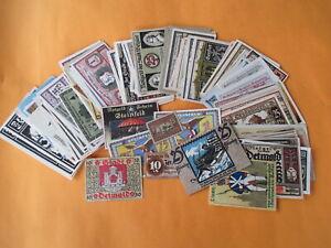 Lot-Konvolut-210-Original-alte-Notgeld-Scheine-Stadtgeld