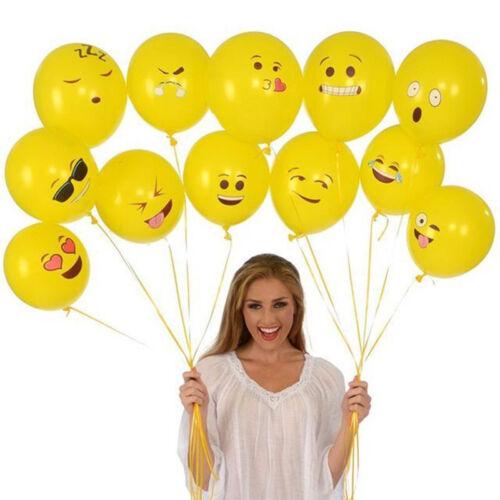 10pcs Cute Emoji Face Balloons Festival Wedding Birthday Party Xmas Decoration