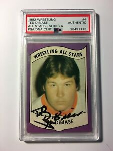 Ted-DiBiase-1982-Wrestling-All-Stars-4-Series-A-PSA-DNA-Cert-Autograph-Auto-WWE