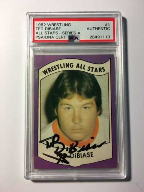 Ted DiBiase 1982 Wrestling All Stars #4 Series A PSA DNA Cert Autograph Auto WWE