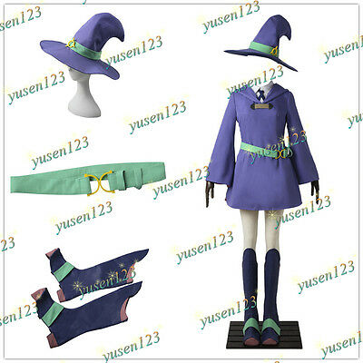 Little Witch Academia Diana Cavendish Cosplay Costume Magic Girl Dress Hat