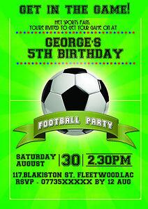 Football Birthday Party Invitations Koran Sticken Co
