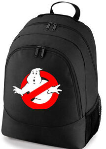 414efa43cb Image is loading GHOSTBUSTERS-LOGO-80s-SCHOOL-COLLEGE-SPORTS-BAG-BACKPACK