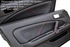 RED STITCH FITS NISSAN SILVIA 200SX S15 1999+ 2 X DOOR CARD TRIM LTHR COVERS