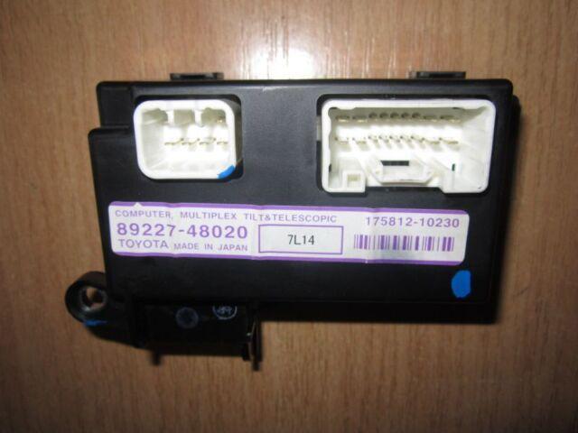 2008 Lexus Rx 400H / Multiplex Inclinación y Telescópica Ordenador 89227-48020
