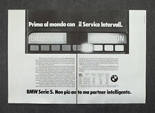 G111-Advertising Pubblicità - 1982 - BMW SERIE 5 SERVICE INTERVALL