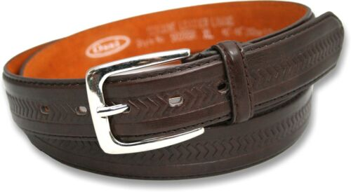NEW LEATHER LINED OSSI® MENS BELT BLACK BROWN MED-XXL GIFT BOX OPTION CHRISTMAS