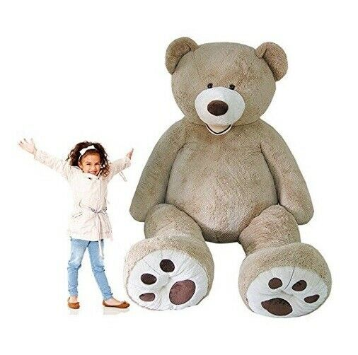 8-Foot OverGröße Giant Teddy Bear Jumbo Plush Gigantic Stuffed Animal