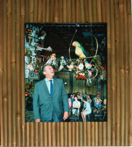 Walt Disney Disneyland Talks with Jose Tiki Room NEW Bamboo Tiki Style Frame