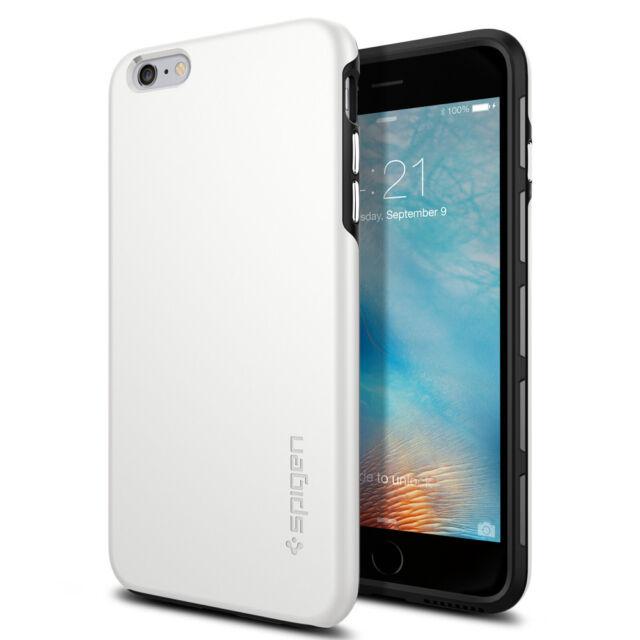 best website 73d7d 546e6 Spigen iPhone 6 / 6s Plus Thin Fit Dual Layer Hybrid White Case (sgp11733)