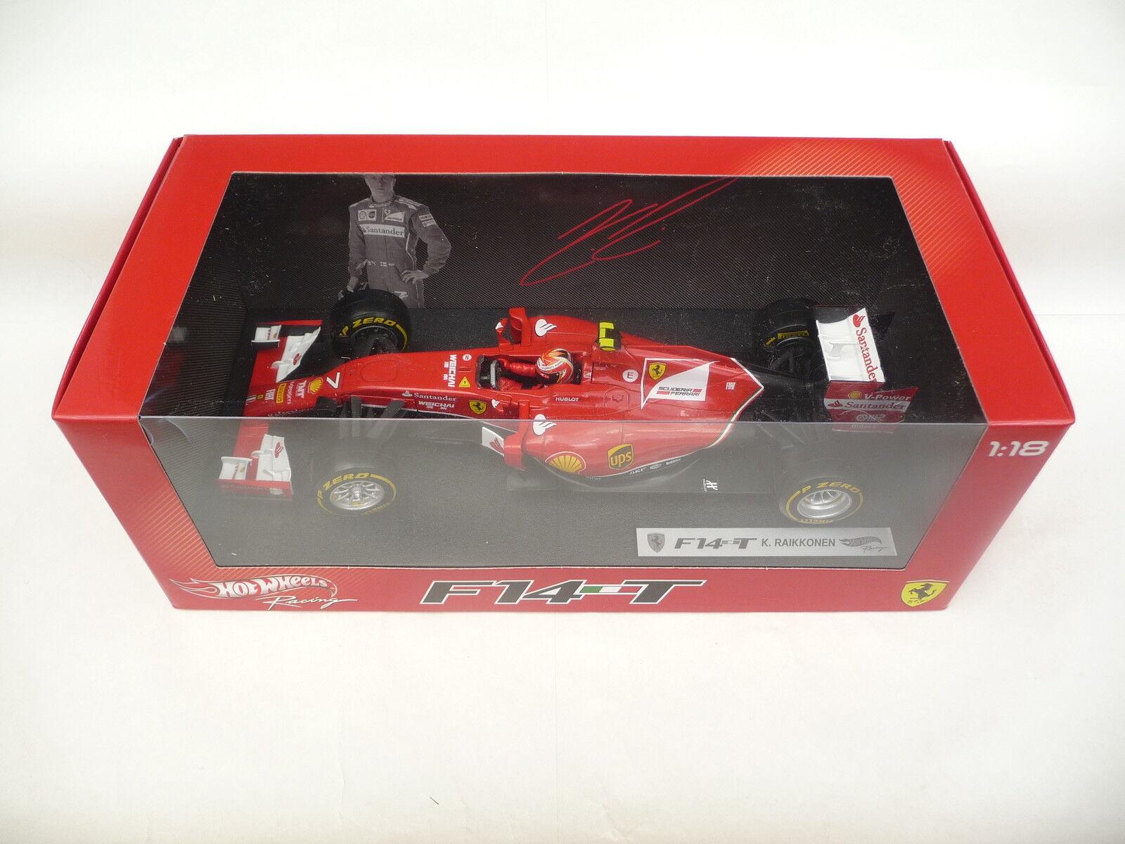 Hot Wheels 1 18 Ferrari F14-T Kimi Räikkönen BLY68