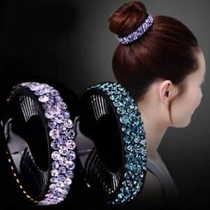 Women-Hair-Claws-Headwear-Rhinestone-Hairpin-Bird-Nest-Hair-Twist-Clip