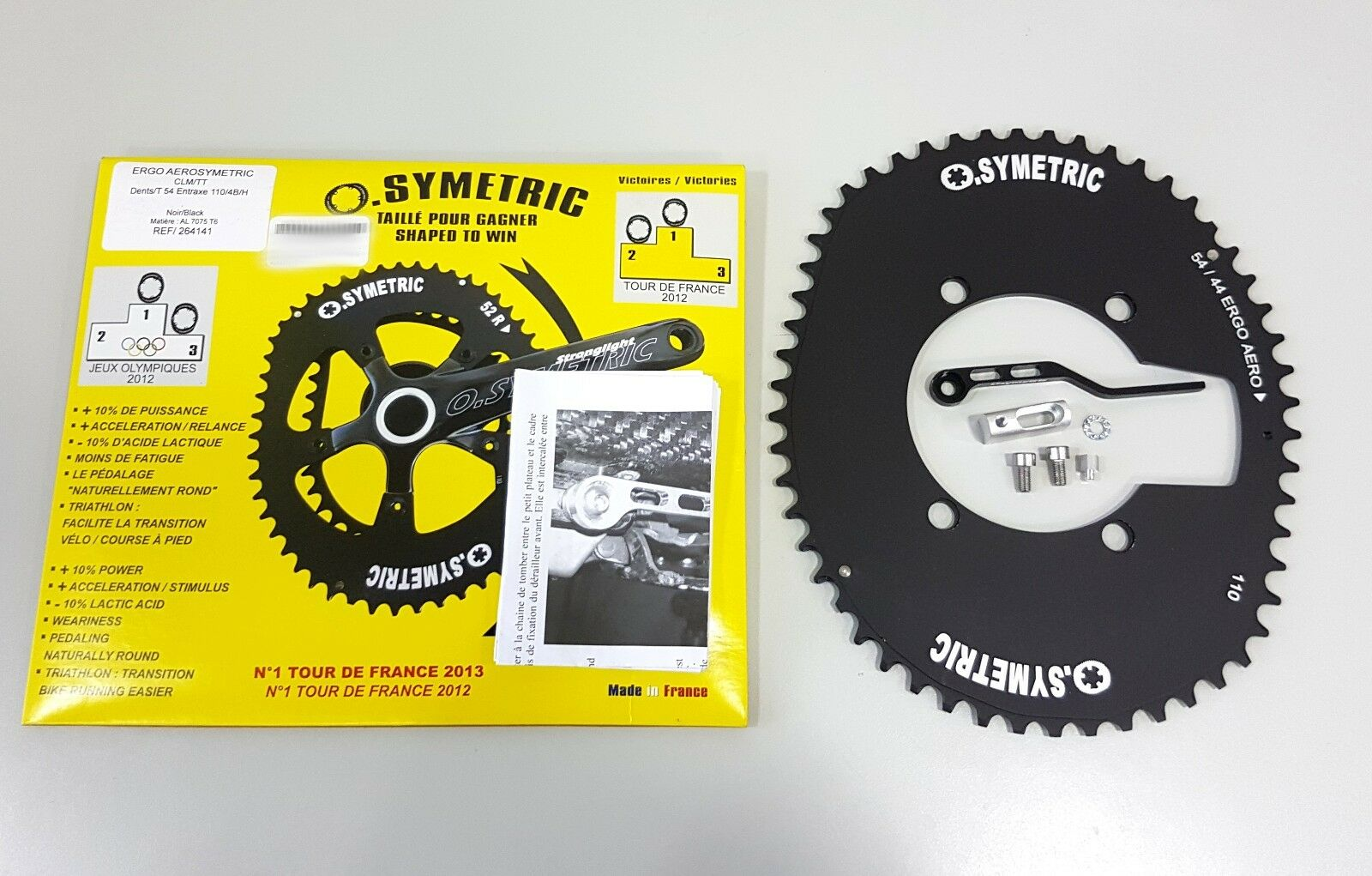Osymetric ERGO Aerosymetric BCD110mm 4 Bolts 54T Bicycle  Aero Outer Chainring  floor price