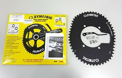 Osymetric ERGO Aerosymetric BCD 130mm 5 bolts 54T Bicycle Aero Outer Chainring