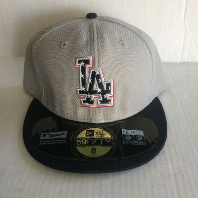 check out d8568 fac56 germany los angeles dodgers new era 59fifty stars stripes hat fitted size 8  gray d841f f4cf9