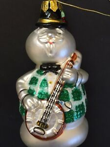 Sam-Snowman-with-Banjo-Glass-Christmas-Ornament-Rudolph-Animated-Program-5-inch