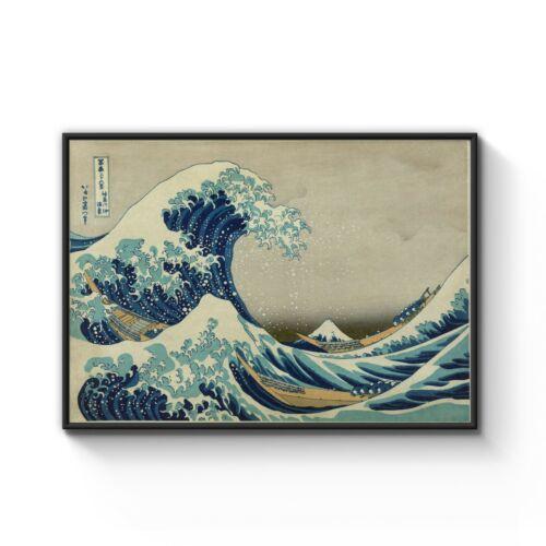 A4 to A0 Framed Great Wave Off Kanagawa Hokusai Japanese Art Poster Print