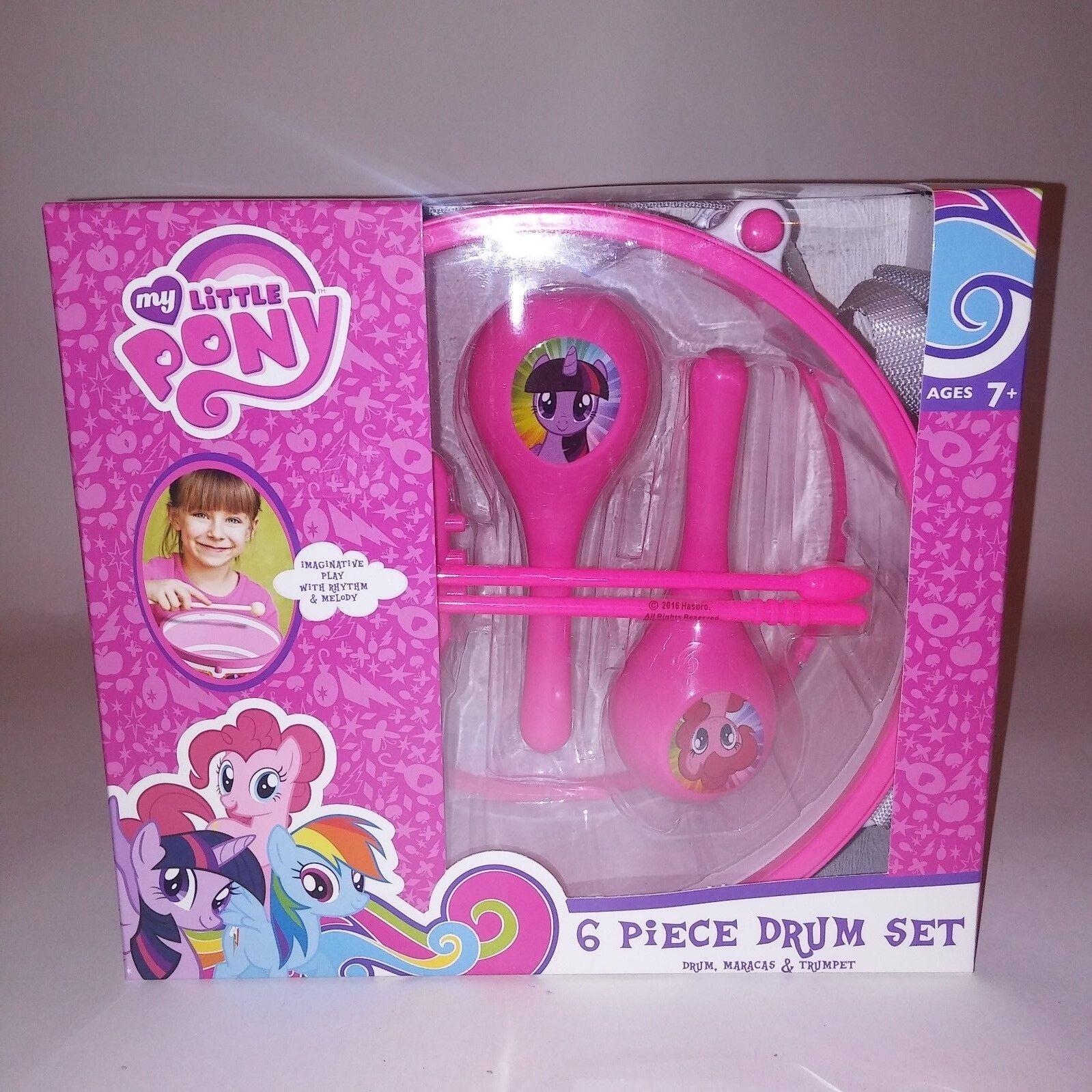 My Little Pony 6 Piece Drum Set Maracas Trumpet Kids Toys Music