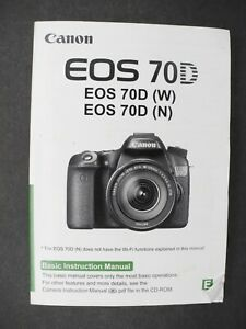 Canon EOS-70D Manual Instruction, FREE Download User Guide