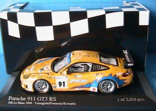 PORSCHE 911 GT3 RS H DU MANS 2006 YAMAGISHI 1 43 MINICHAMPS 400066991